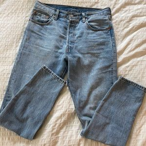 Levi 501 high rise skinny buttonfly